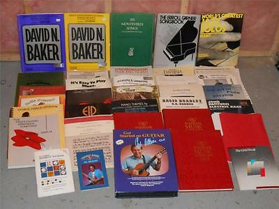 HUGE VINTAGE LOT 34 MUSIC GUITAR & PIANO TAB SHEET BOOKS ROCK N Roll ,Classical