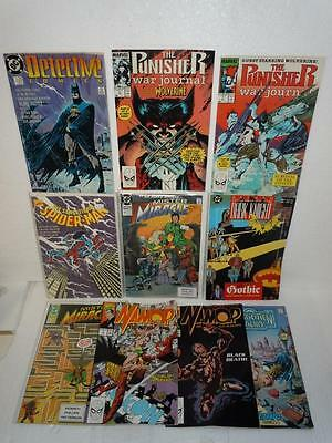 Marvel & DC Comic Book Lot of 10 1980's/90's Spiderman, Batman, TSR, Punisher ++