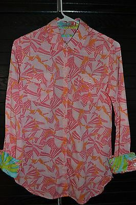 be029d27 LILLY PULITZER WOMENS Resort Fit Button Down Shirt Blouse Size XS ...