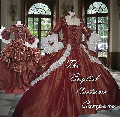 SIZES L XL Versailles Marie Antoinette Venice carnival dress.FULLY CORSETED