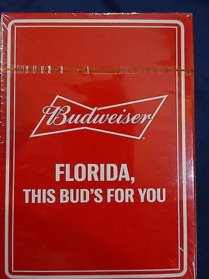 "Budweiser ""FLORIDA, THIS BUD'S FOR YOU"" Playing Cards NEW - SEALED"