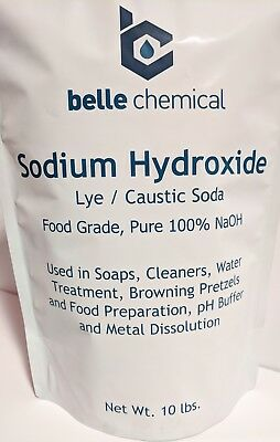 Sodium Hydroxide 100% Pure 10lb (Caustic Soda, Lye) Food Grade