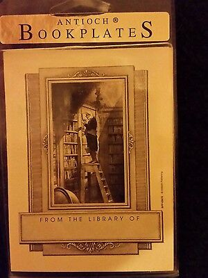 """11 Rare Bookplates Antioch Bookplate Company  """"from The Library Of"""""""