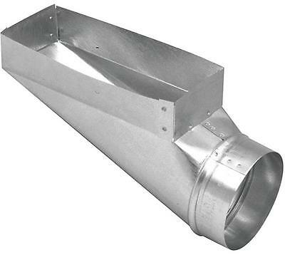 Imperial GV0657 REGISTER END BOOT 30 ga 90 deg Angle Steel Galvanized REGISTRE