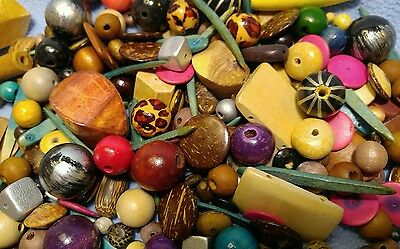 One Pound of Wooden & Coconut Shell Beads~Very Nice!!