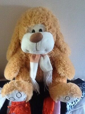 """Large Dog Stuffed Toy 18"""". Tall Standing"""