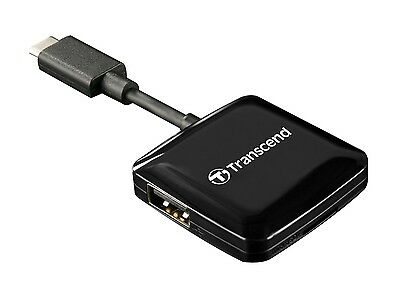 Transcend RDC2 USB3.0 (3.1 Gen 1) Type-C Smart Card Reader - microSD, SD, USB