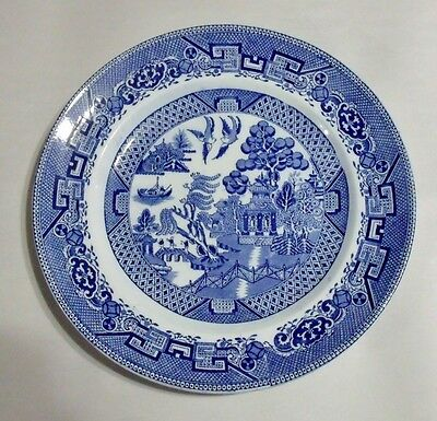 "Grimwades YE OLDE WILLOW BLUE 10-1/4"" Dinner Plate EXCELLENT"