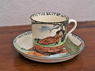 Rare Royal Doulton The Gallant Fishers Tea Cup & Saucer