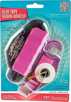Tombow Stamp Runner Dot Adhesive Applicator + Refill, Clear, Value-Pack