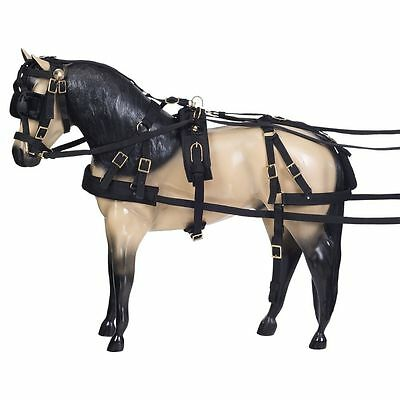 Tough 1 Deluxe Durable Nylon Miniature Horse Size Adjustable Driving Harness