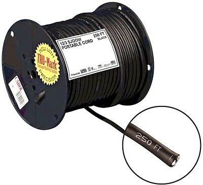 Carol Brand 250 ft 12/3 Gauge Portable Power SJOOW Electrical Cord Grounded Wire
