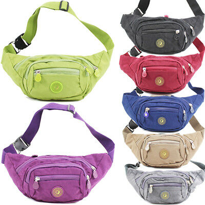 UK Unisex Waist Travel Belt Money Passport Wallet Pouch Ticket Bum Bag Fanny Pac