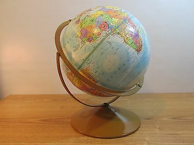 "Vintage Made In USA Globemaster 12"" Diameter Globe"