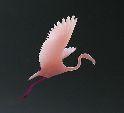 FLAMINGO Mobile Sculpture Direct from JOHN PERRY New 8in Wing Span Statue Decor