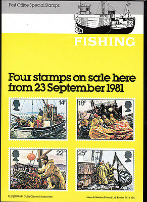 GB Post Office Advertisement Card - Fishing 23 September 1981 PL(P)2907