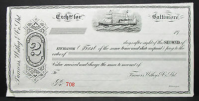 US Check Furness Withy & Co. Baltimore Ship Cachet Unused USA Scheck (H-7057+