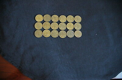 Token, Car Wash, Florida EAGLE, 18 pieces