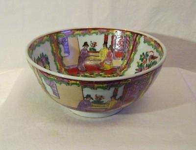 C20th Chinese Porcelain Large Bowl Famille Rose Enamelled & Gilded