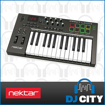 Nektar Impact-LX25+ 25-key MIDI Keyboard with Velocity Trigger Pads & Knobs