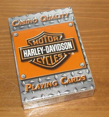 SEALED DECK OF HARLEY-DAVIDSON PLAYING CARDS Casino Quality (Lot G)