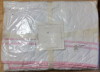 Pottery Barn Kids PEARL DOT Crib or Toddler Quilt, Light Pink NEW