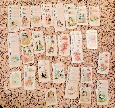 Antique Original Victorian Letter Playing Cards Set Of 72 Very Rare Game