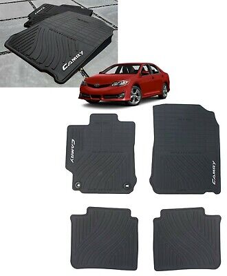 2012-2014 Camry Floor Mats (ALL WEATHER) Rubber Genuine Toyota PT908-03120-20