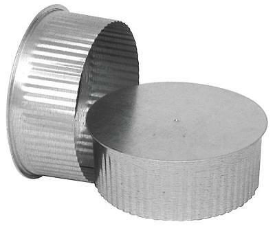 "Imperial GV0734 SMALL ROUND END CAP 5"" 30 Ga Thick Galvanized FOR STOVE PIPE"