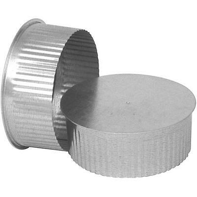 "Imperial GV0735 SMALL ROUND END CAP 6"" 30 Ga Thick Galvanized FOR STOVE PIPE"