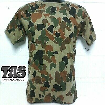 Aus Military Spec Auscam T-Shirts S - Xxxxl Cotton/crew Neck/inset Sleeve