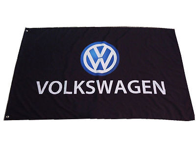 NEW Black flag volkswagen banner VW Racing car flags 3X5 Ft-Black-freeshipping