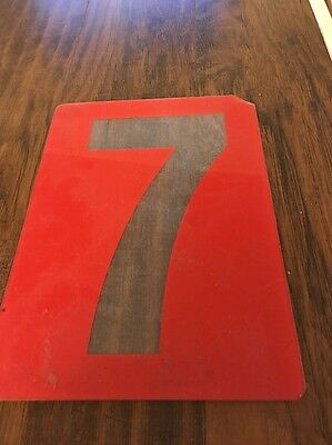 Vintage Gas Station Number Texaco Gas Oil Sign
