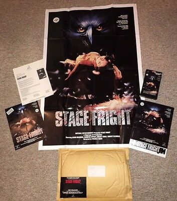 Vintage Stage Fright 1987 Giant Horror Promo Retail Kit Never Used Standee, More