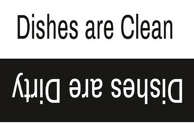NEW! Commercial Grade Dishwasher Magnet for Clean & Dirty Dishes