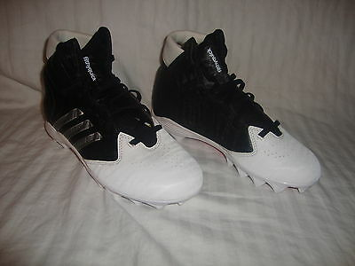 Youth Adidas Filthy Quick High Football Cleats Size 5Y Black
