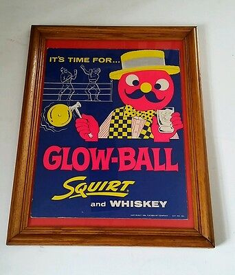 VINTAGE 1950s SQUIRT SODA POP CARD BOARD ADVERTISING BAR BACK STAND UP SIGN