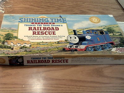 Thomas and Friends Shining Time Station Railroad Rescue  Board Game. (1992)