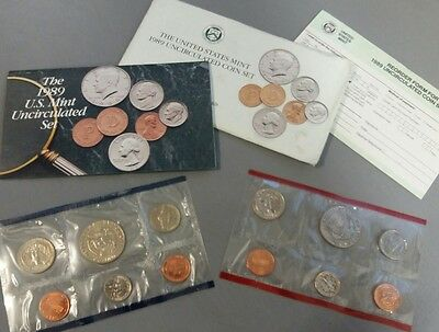 1989 united States mint uncirculated coin set  P + D