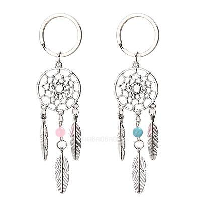 Cute Key Ring Key Chain Feather Tassels Dreamcatcher Charm Pendant Keychain New