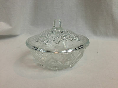 Glass Candy Dish Pressed Glass With Roses