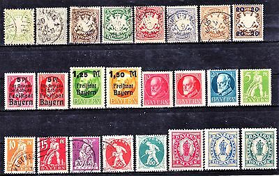 BAVARIA 1876-1920 Collection Mint & Used 2 Scans.