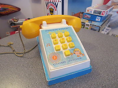 Vintage Fisher Price Chime Phone Pop Up Phone Working 1968