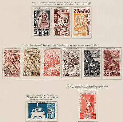 Mexico - 1938-40 Commemoratives Mint Group, High CV (2 scans)