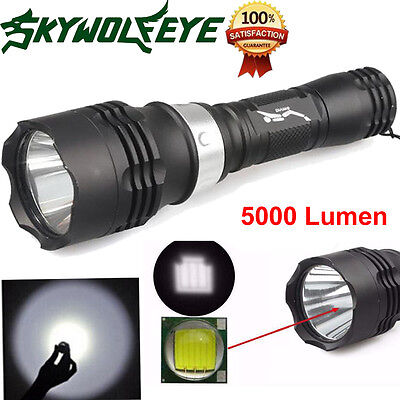 5000LM T6 LED Scuba Diving Flashlight Bike Torch Light Lamp Waterproof NEW