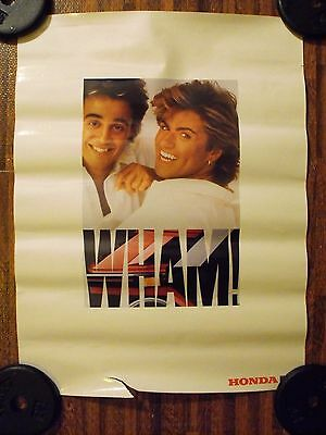 Wham! Promotional 18 x 24 Concert Tour Poster 1985 Honda Scooters George Michael