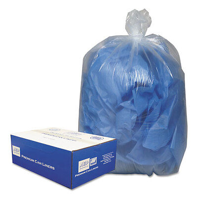 Classic Clear Clear Low-Density Can Liners, 55-60gal, .9 Mil, 38 x 58, Clear...