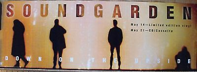 """Soundgarden Down On The Upside Promo 12"""" x 35"""" Poster 1996 A & M Records"""