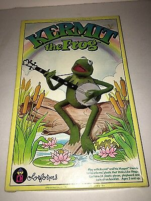 1980 Vintage Kermit The Frog Dress Up Set Colorforms ~