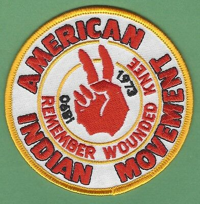 Aim American Indian Movement Remember Wounded Knee Patch
